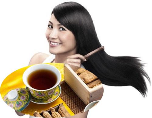 Sử dụng trà hồng sâm Hàn Quốc có tác dụng làm đẹp tóc