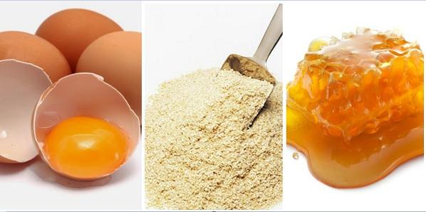 Cách làm trắng da bằng trứng gà, mật ong và cám gạo
