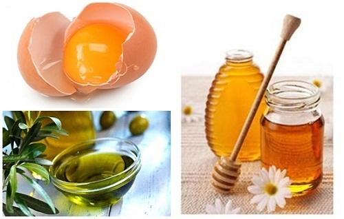Cách làm trắng da bằng trứng gà, mật ong và dầu oliu