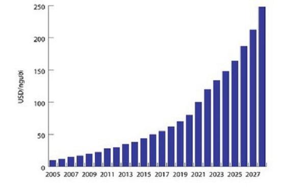 doanh thu thị trường trong nước năm qua ước đạt 5,2 tỷ USD