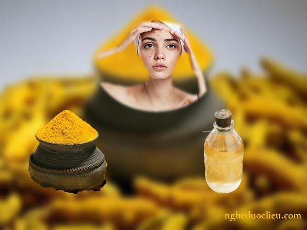 Tinh bột nghệ và dầu dừa