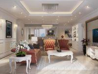 Màu sắc trong thiết kế  nội thất phong cách tân cổ điển luôn thể hiện được sự quyền quý và sang trọng.