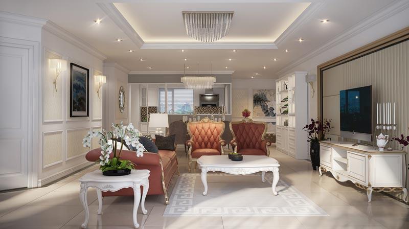 thiết kế chung cư tân cổ điển