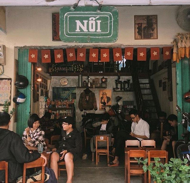 mô hình quán cafe bình dân