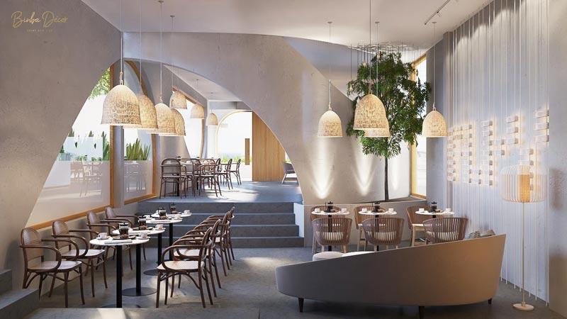 thiết kế thi công quán cafe phong cách Địa Trung Hải