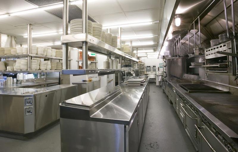 ánh sáng bếp nhà hàng