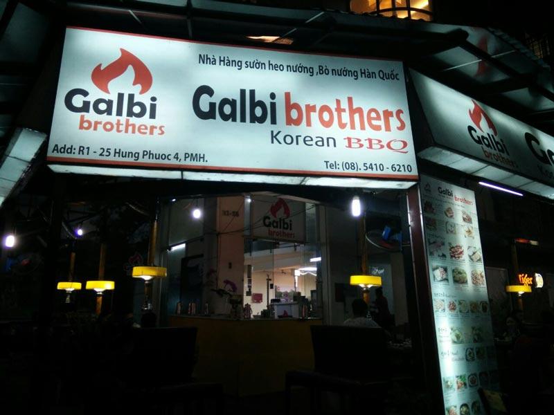 Nhà hàng Galbi Brothers nổi danh