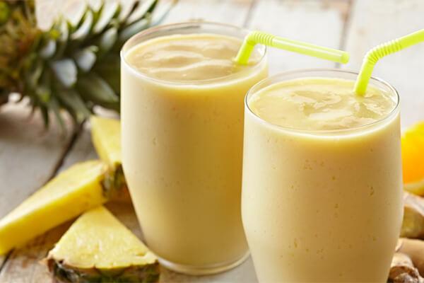 Uống sinh tố dứa giúp giảm mỡ bụng hiệu quả